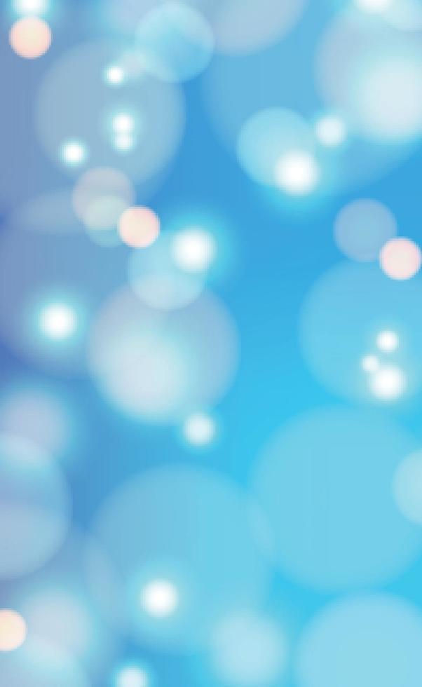 vit suddig bokeh på blå bakgrund vektor