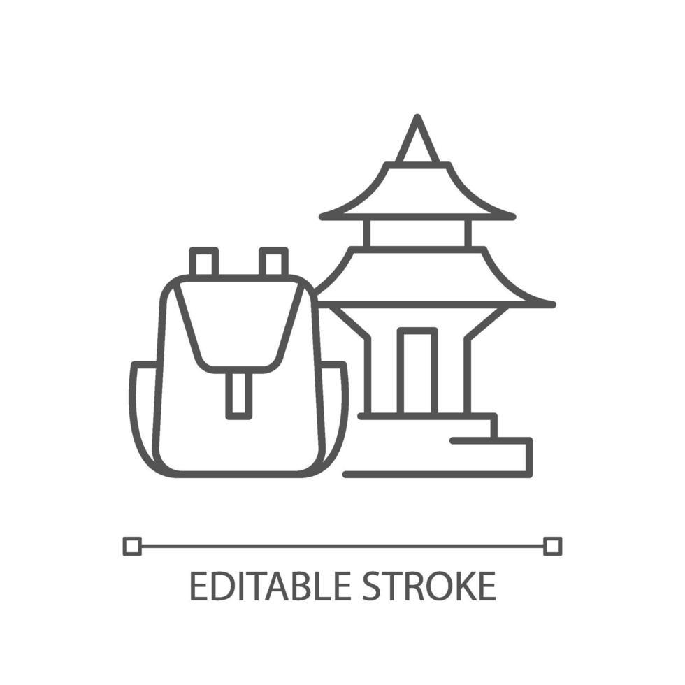 lineare Ikone der spirituellen Nomaden vektor
