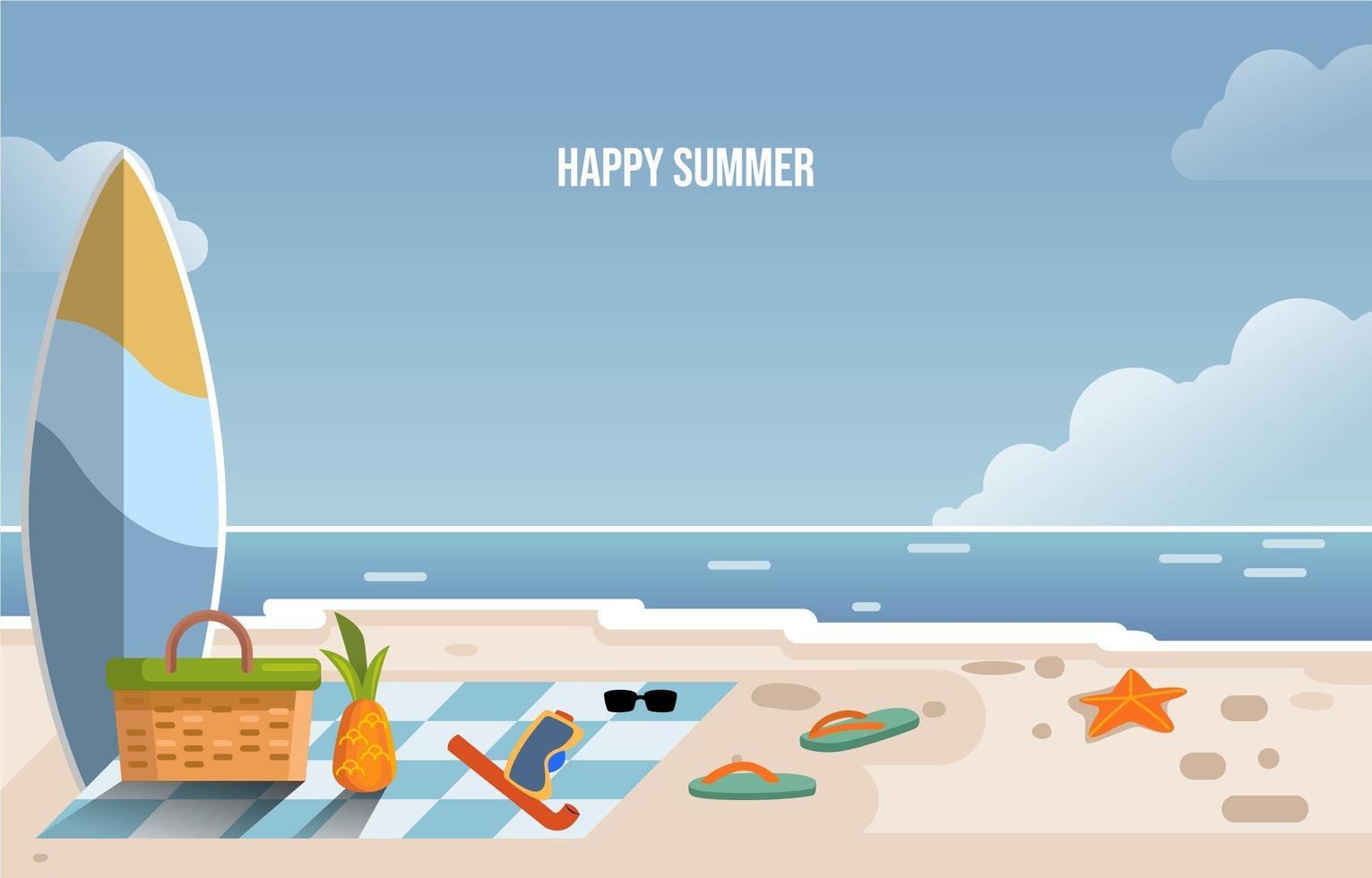Sommer Strandurlaub vektor