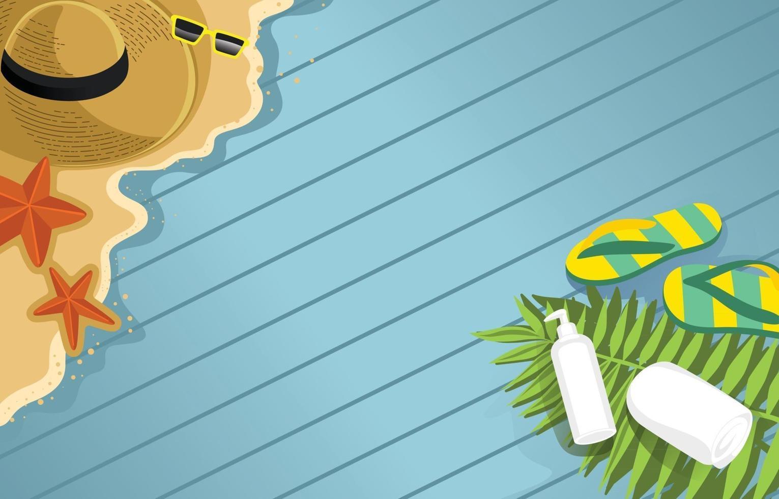 Sommerelement Hintergrund vektor