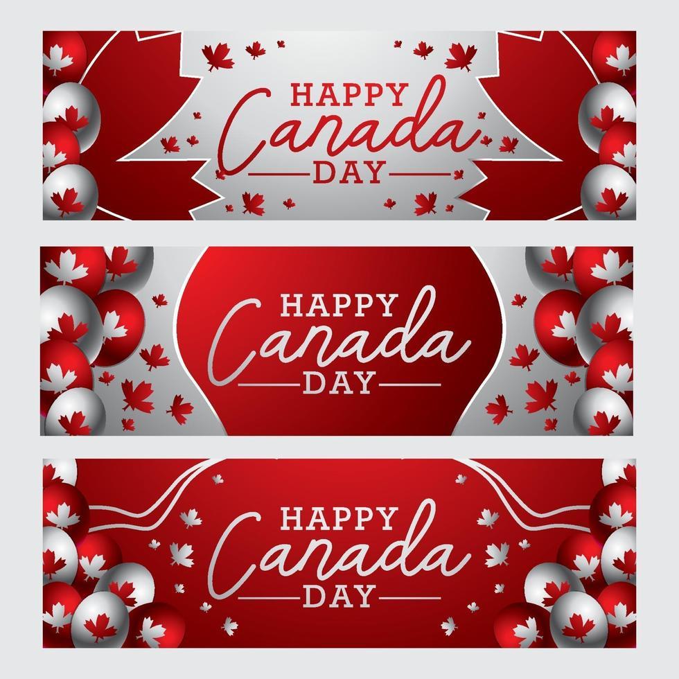 Kanada-Tagesbanner-Konzept vektor
