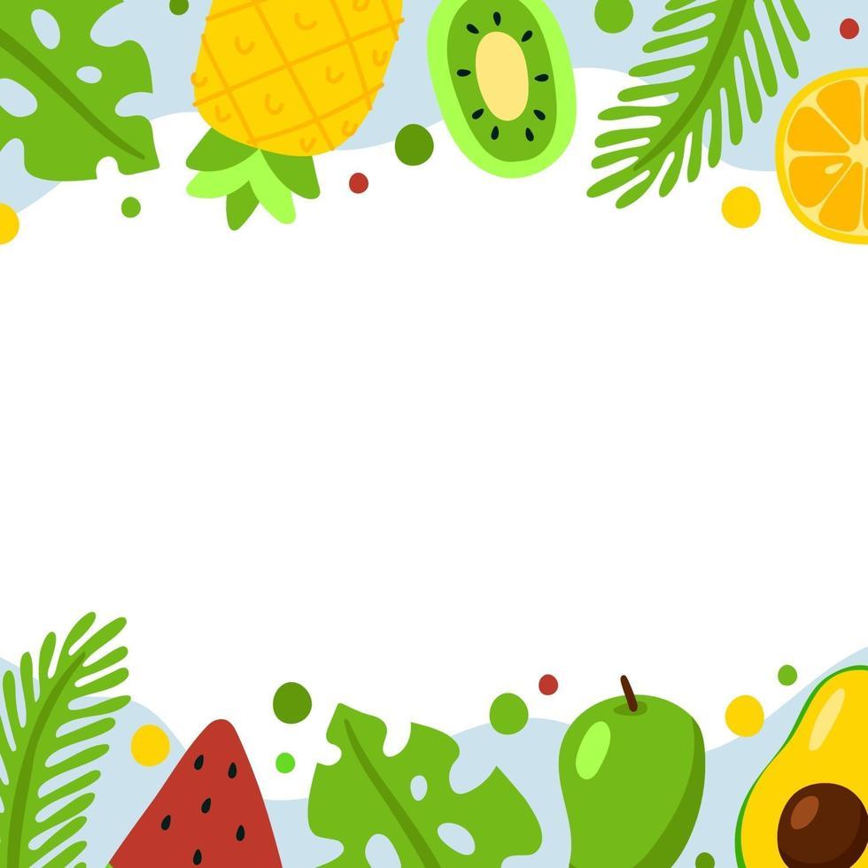 leckerer Sommer Essen Hintergrund vektor
