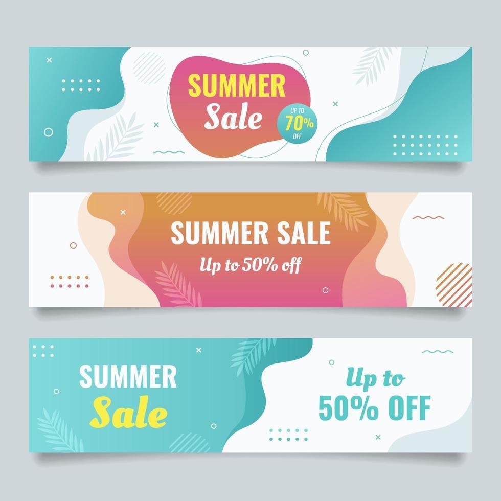 Sommerverkauf Banner vektor
