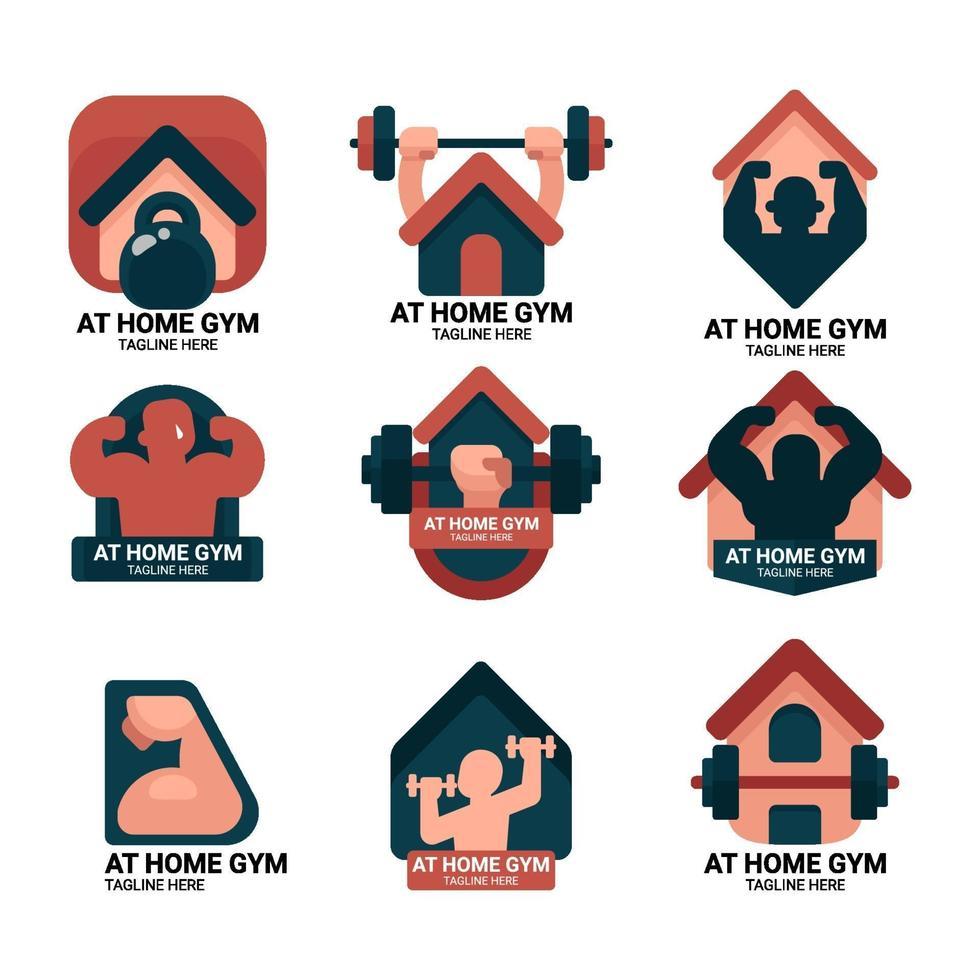 zu Hause Fitnessstudio Logo vektor