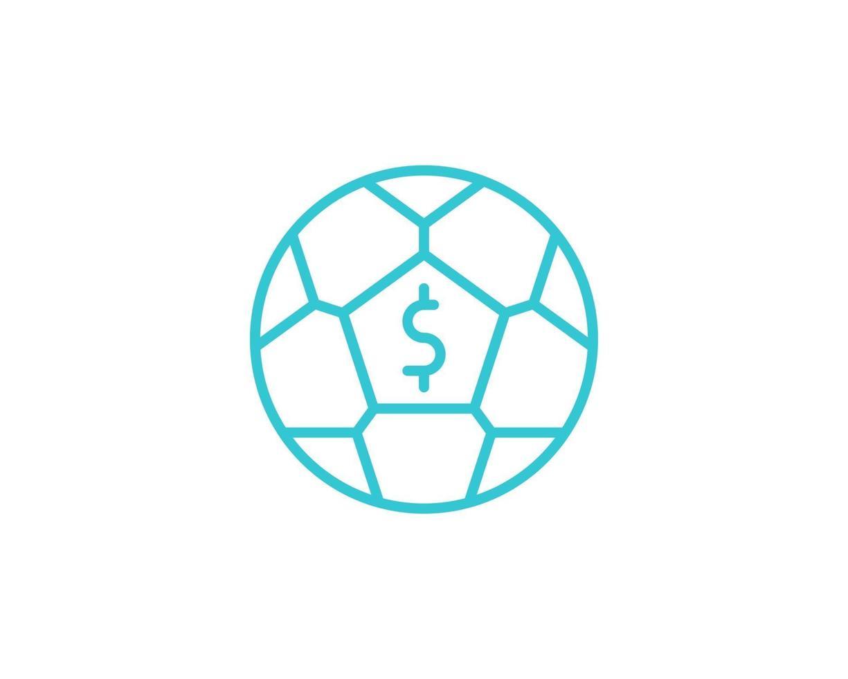 Fußball, Wetten, Vektor, Symbol, Gliederung. Illustration isoliert auf weißem Vektorzeichen. vektor