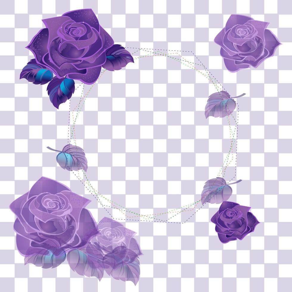 lila Rose isoliert vektor
