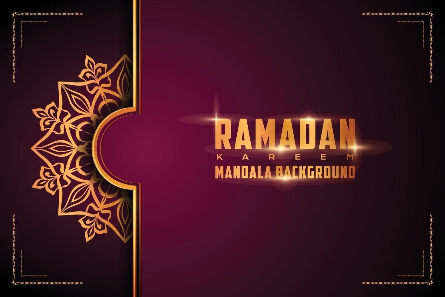 lyx dekorativ mandala logo bakgrund arabesk stil vektor