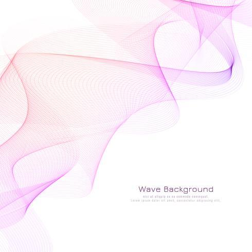 Abstrakt elegant rosa våg design bakgrund vektor