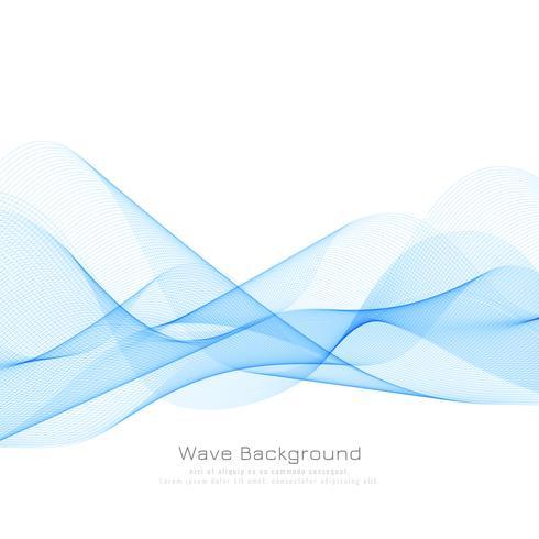 Abstrakt blåvåg bakgrund vektor