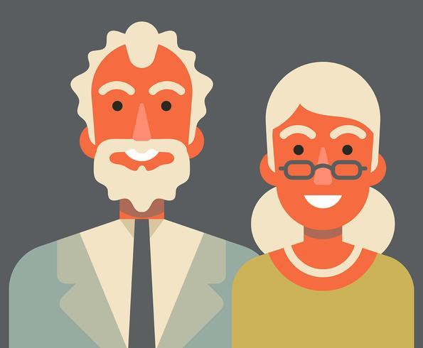 Morföräldrar illustration vektor