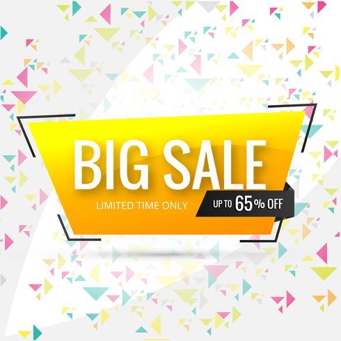 Försäljning banner mall design, Stor försäljning special upp till 65% rabatt desi vektor