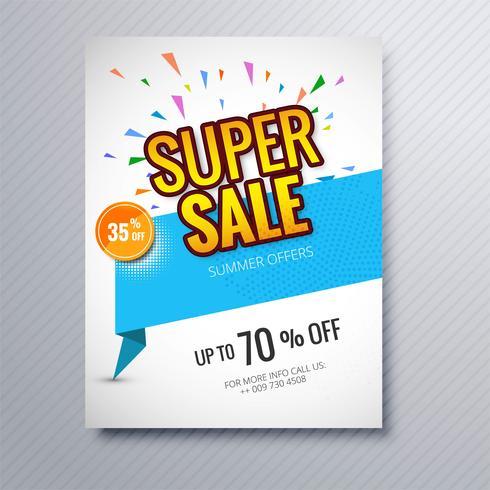 Modern super försäljning broschyr mall illustration vektor