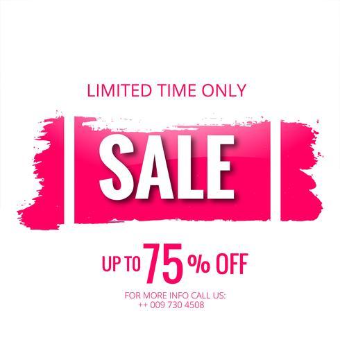 Försäljning mall banner med stroke vektor design