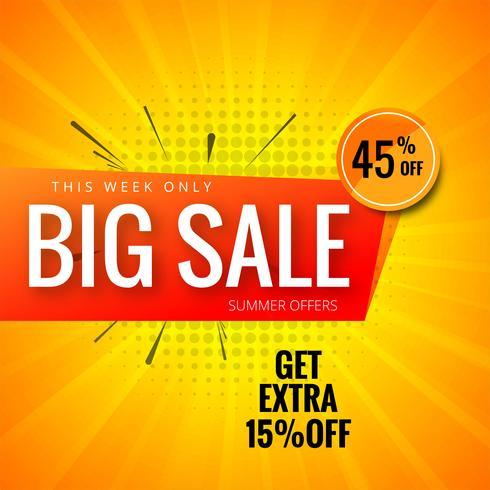 Stor försäljning färgglad mall banner bakgrund vektor