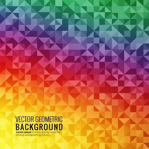 Abstrakter bunter geometrischer Hintergrundvektor vektor