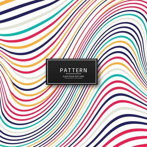 Abstrakte bunte stilvolle Linien Hintergrund vektor