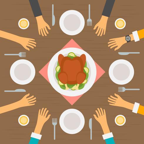 Hervorragende Leute, die an den Restaurant-Vektoren essen vektor