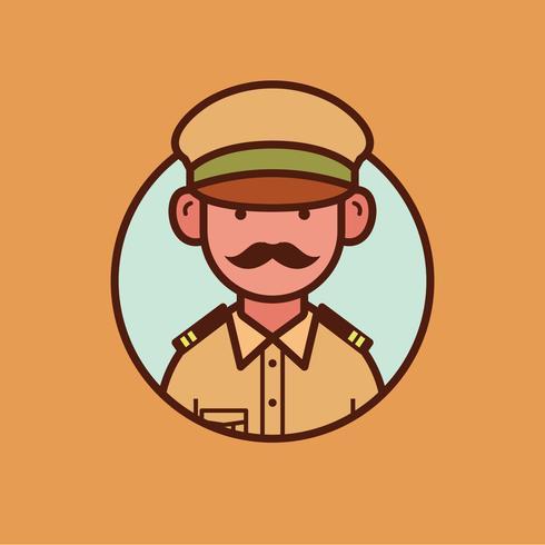 Indisk polisansvarig vektor