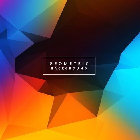 Abstrakt färgrik polygon bakgrund vektor