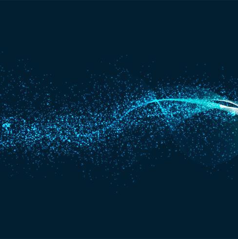 Abstrakter glänzender blauer Hintergrund des Funkelns vektor