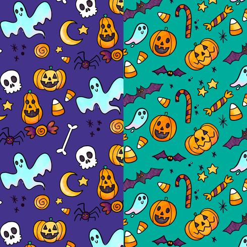 Gulligt Halloween Mönster vektor
