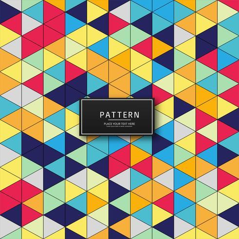 Abstrakt färgstarka trekantmönster bakgrunds illustration vektor