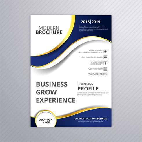 Vacker affärskort broschyr våg mall vektor