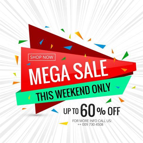 Mega försäljning banner affisch design mall illustration vektor