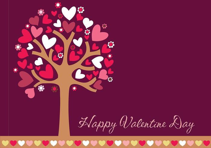 Glad Valentinsdag Bakgrund och Border Vector Pack