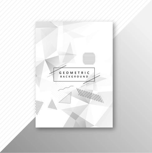 Abstrakt grå geometrisk polygon mall broschyr design vektor