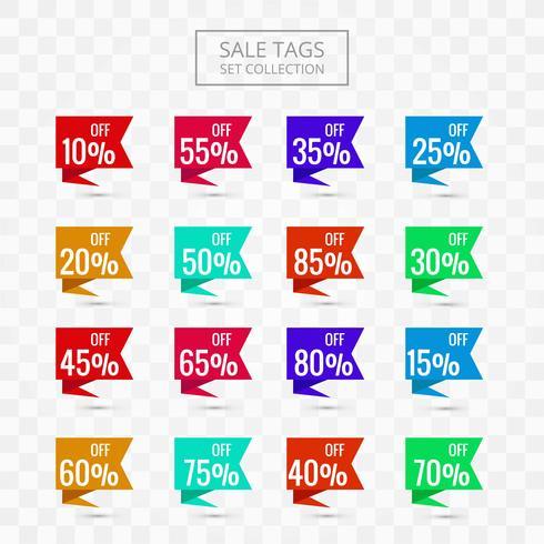 Försäljningskoder uppsättning samling färgstark design vektor