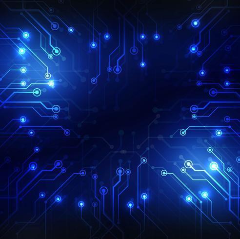 moderne blaue Technologie Hintergrund vektor