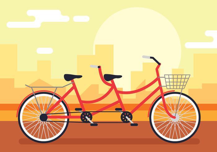 Tandem-Fahrrad-Illustration vektor