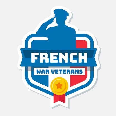 Vektor der französischen Kriegsveteranen