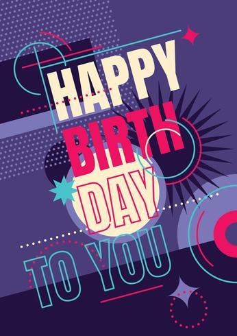 Födelsedagskort vektor