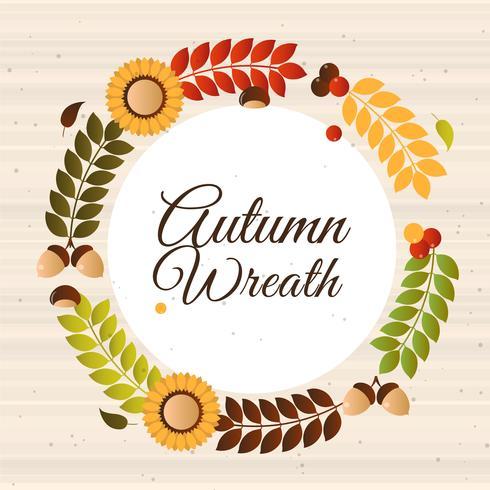 Vektor hösten krans illustration