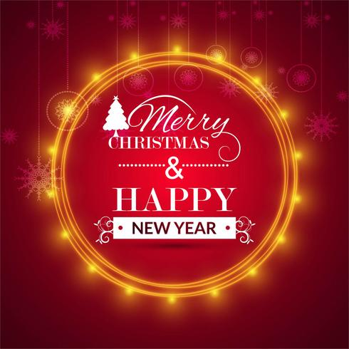 God jul hälsningskort färgstark bakgrund vektor