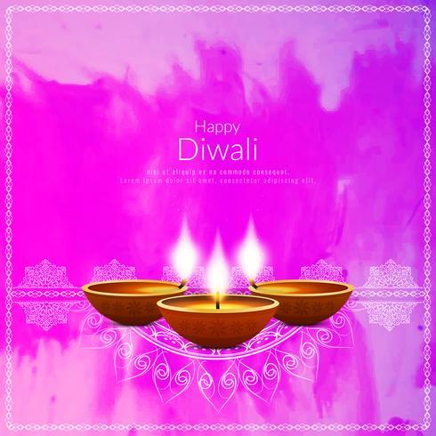 Abstrakter dekorativer glücklicher Diwali Hintergrund vektor