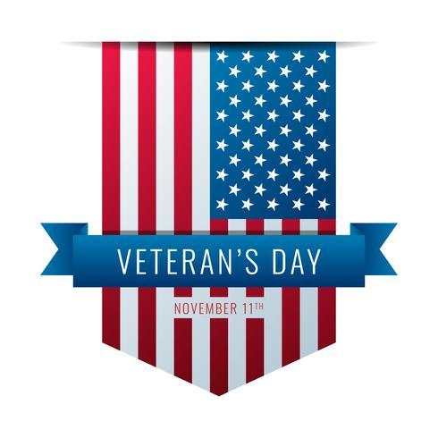 Amerikanische Flagge Ribbons Veterans Day vektor