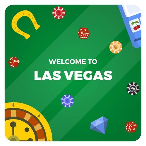 Flache Las Vegas-Kasino-Vektor-Illustration vektor