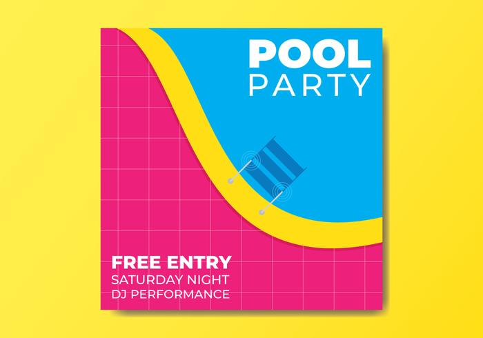 Pool Party Flyer Mall vektor