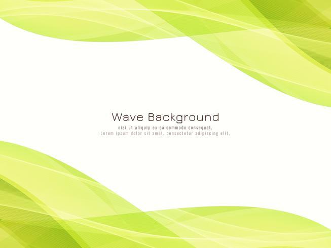 Abstrakt grön vågig bakgrund vektor