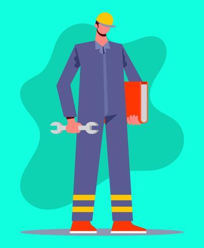 fabriksarbetare illustration vektor
