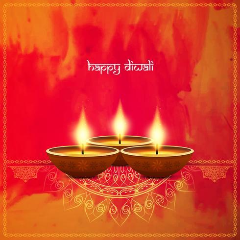 Abstrakt dekorativa Happy Diwali bakgrund vektor