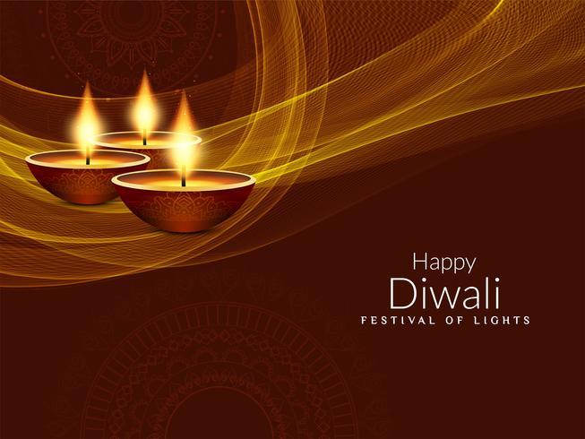 Abstrakter stilvoller glücklicher Diwali-Festivalhintergrund vektor