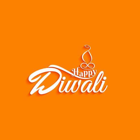 Abstrakter glücklicher Diwali-Text-Designhintergrund vektor