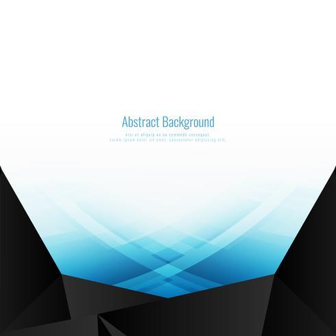Abstrakter blauer polygonaler Hintergrund vektor