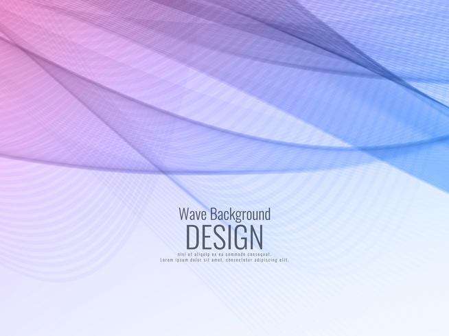 Abstrakter blauer wellenförmiger Hintergrund vektor