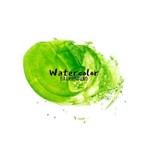 Abstrakter grüner Aquarelldesignhintergrund vektor