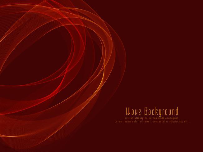 Abstrakter bunter stilvoller glühender Wellenhintergrund vektor